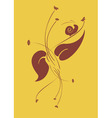 vector illustraition of retro abstract floral swir vector image vector image