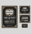 vintage luxurious wedding invitation vector image