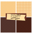 waffel seamless patterns set vector image vector image