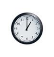 wall clock set at 1 o clock vector image vector image