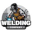 welding company badge vector image vector image