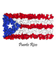 flag love puerto rico flag heart glossy with vector image