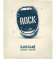 Rock Music Poster vector image