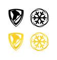 figure skating emblem vector image