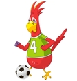 Funny Parrot Soccer vector image