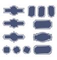 Set of vintage frame badges and labels vector image