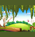 a nature forest background vector image vector image