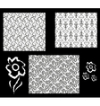 A set of three simple monochrome seamless patterns vector image vector image