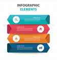 abstract colorful circle business infographics vector image vector image