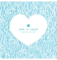 abstract frost swirls texture heart silhouette vector image