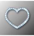 abstract heart with lights vector image vector image