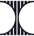 abstract logo - geometric shape futuristic vector image vector image