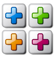 add plus glossy icons vector image vector image