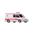 ambulance car with a siren medical transport in vector image vector image