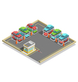 Automatic Parking Isometric Concept vector image