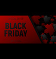 black friday sale web horizontal banners black vector image vector image