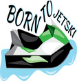 Born To Jet Ski vector image vector image