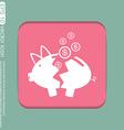 broken piggy Bank icon vector image vector image