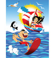 Cartoon watersports design vector image vector image
