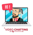 chatting chat message technology vector image vector image
