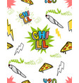 chill set pattern vector image