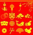Chinese New Year items Chinese wording translation vector image vector image