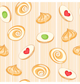 colored cookies vector image vector image