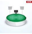 Concept of miniature round tabletop lacrosse vector image vector image