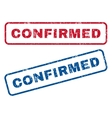 Confirmed Rubber Stamps vector image vector image