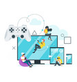 cross platform concept design vector image
