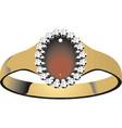 diamond ring diamond ring symbol vector image