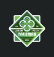 elegant talisman template vintage label vector image vector image
