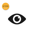 eye icon isolated flat style vector image