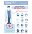 flat modern design coronavirus - safety vector image vector image