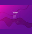 fluid gradient background with purple and pink vector image