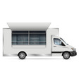 food truck side view on white vector image vector image
