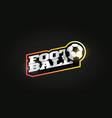 footbal or soccer mascot modern professional vector image vector image