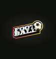 football or soccer mascot modern professional vector image