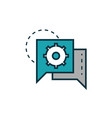 gear speech bubble work tools engineering icon vector image