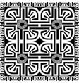 geometric greek key meanders seamless panel vector image vector image