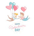 gey men characters flying heart balloons happy vector image