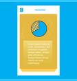 graph mobile vertical banner design design vector image vector image