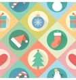 Happy New Year pattern Flat design style vector image vector image