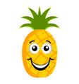 happy pineapple emoticon vector image vector image