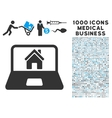 Home on Laptop Screen Icon with 1000 Medical vector image