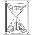 hourglass doodle style vector image