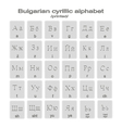 icons with printed bulgarian cyrillic alphabet vector image