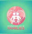 international day of families logo icon design vector image vector image