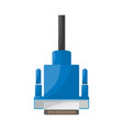isolated object vga and hdmi symbol collection vector image