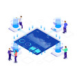 isometric business strategy and planning vector image